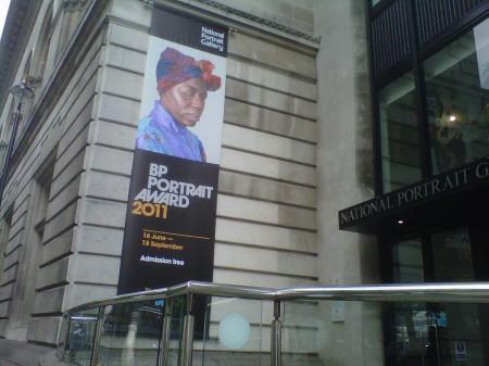 BP Portrait Award entrance